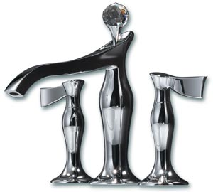 Chrome & Glamour Brizo Faucets by Jason Wu