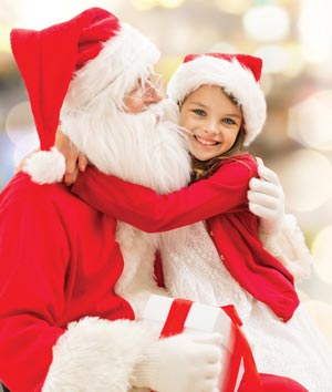 santa clause with child