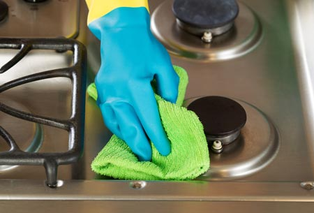 Cleaning a Stainless steel stove top