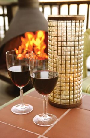 Cold weather outdoor entertaining wine drinks