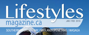 Title on cover of Lifestyles Mag Midland and Wasaga