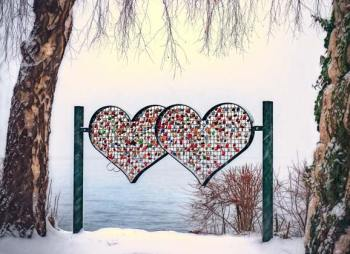 month of February winter hearts