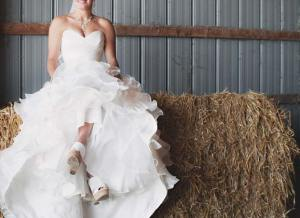 bride in a country setting