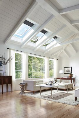 home interior skylights in great room