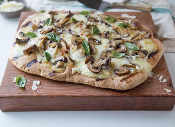 mushroom pizza recipe - sustainable food