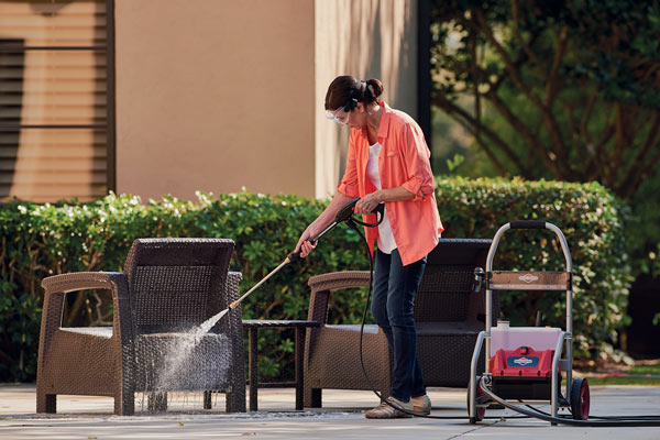 power washing outdoor furniture