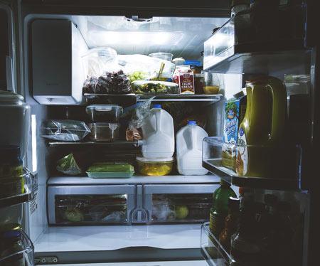 open fridge - avoiding food waste