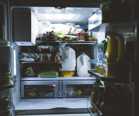open fridge - avoiding food waste