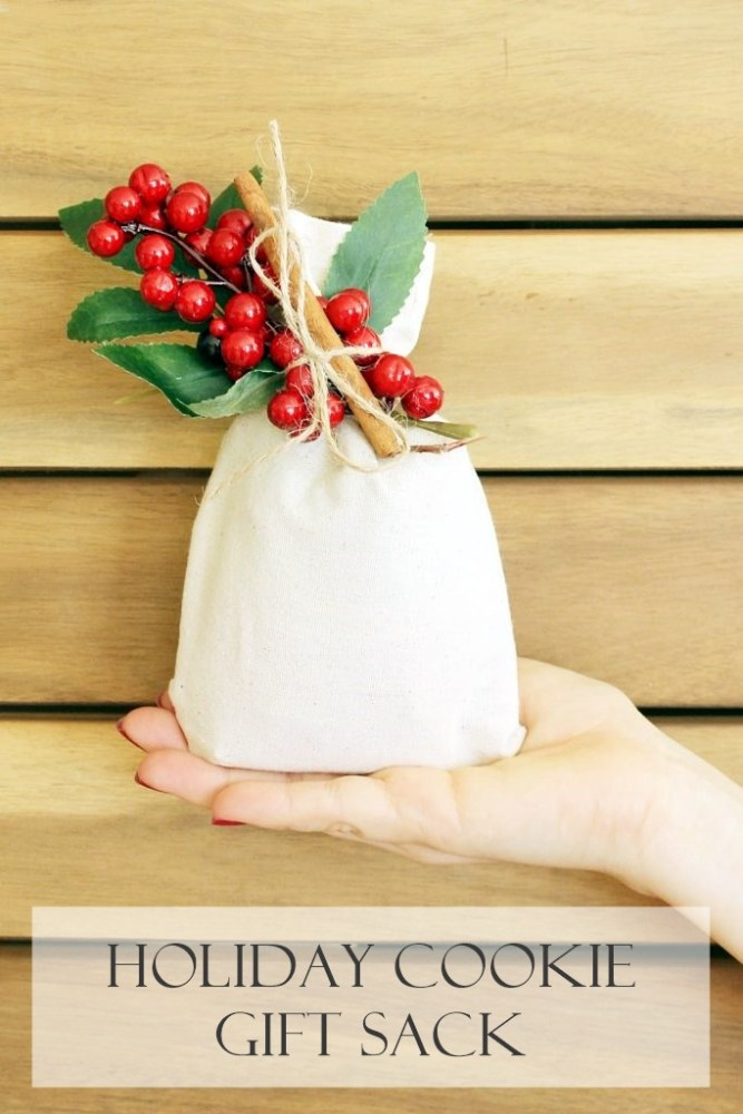 holiday cookie gift sacks