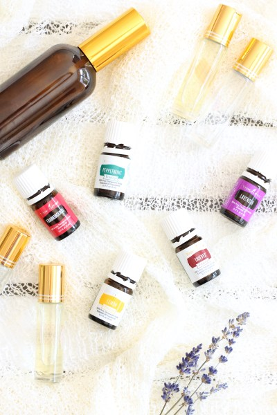 Essential Oil Flatlay