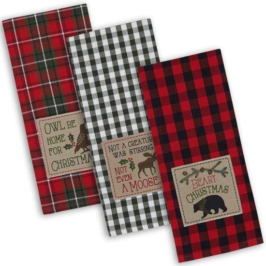 Christmas decor dish towel