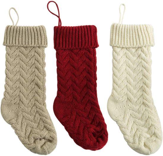 Christmas decor knit stockings