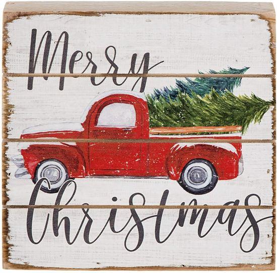Christmas decor vintage pallet sign