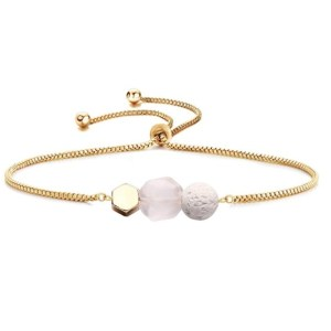 Lava and Rose Quartz Diffuser Bracelet