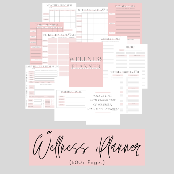 Large Wellness Planner Cover