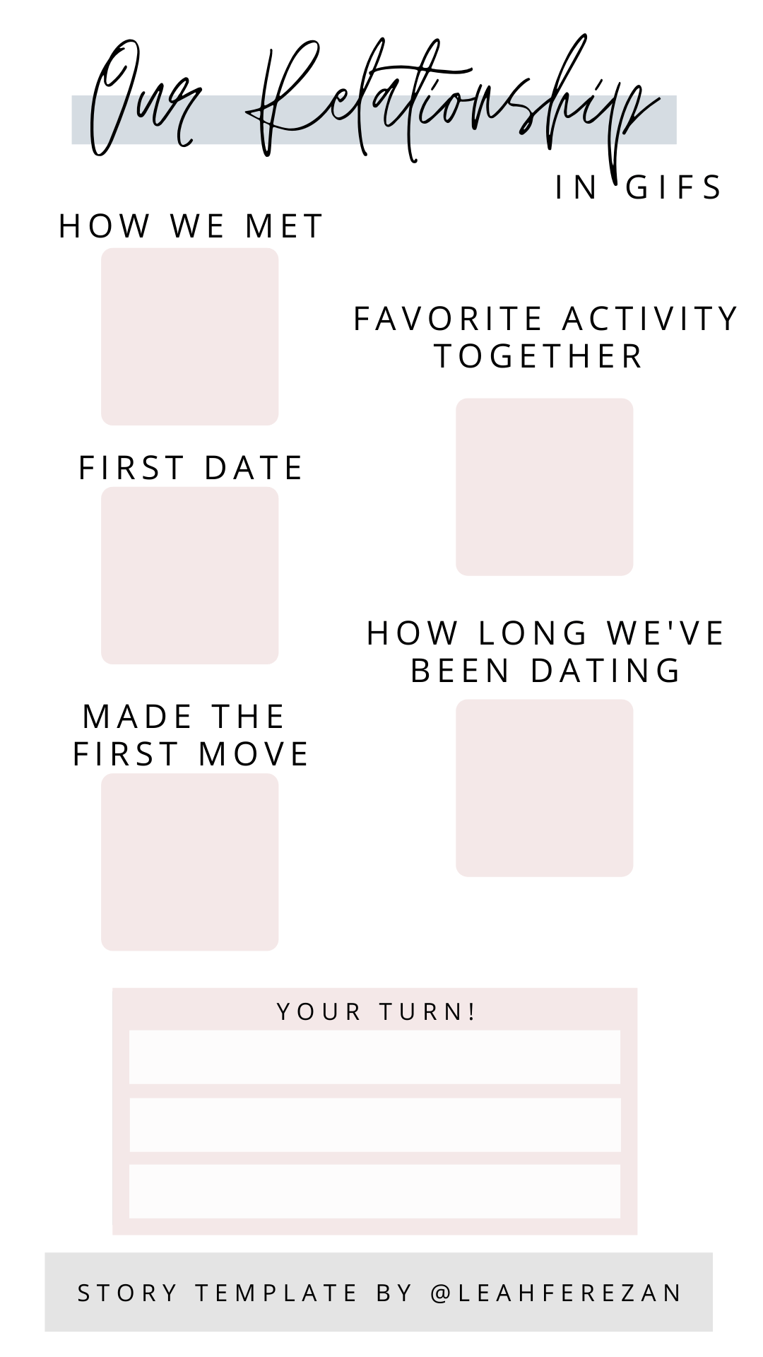 Our Relationship in GIFS Instagram Story Template