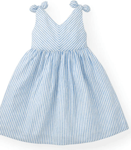 Blue and White Stripped Dress