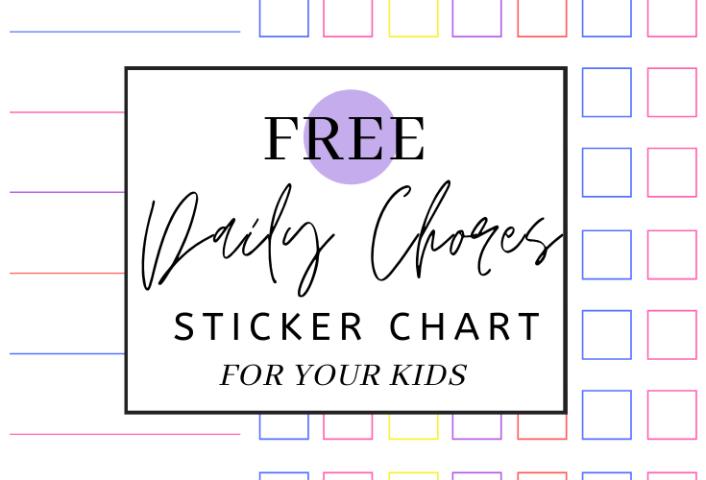 Chores Sticker Chart (Free Printable)
