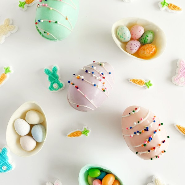 Candy-Filled Chocolate Easter Eggs
