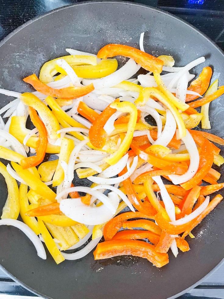 Saute Fajita Vegetables