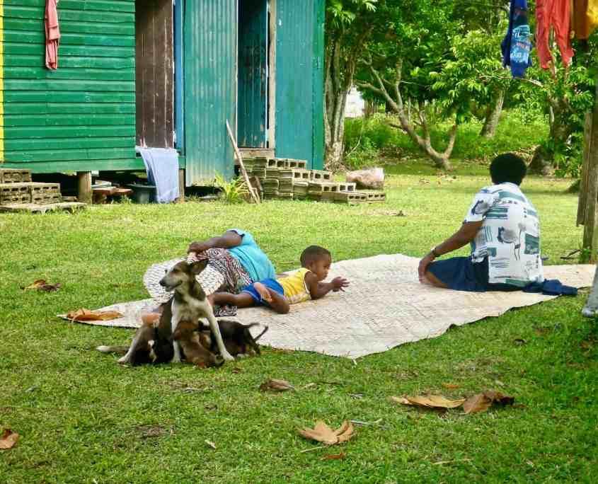 Daily life in a Fijian village