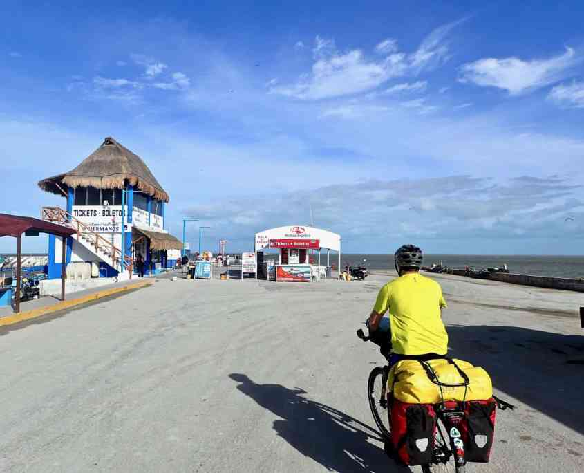First experiences with bicycle touring - Riding towards the ferry terminal