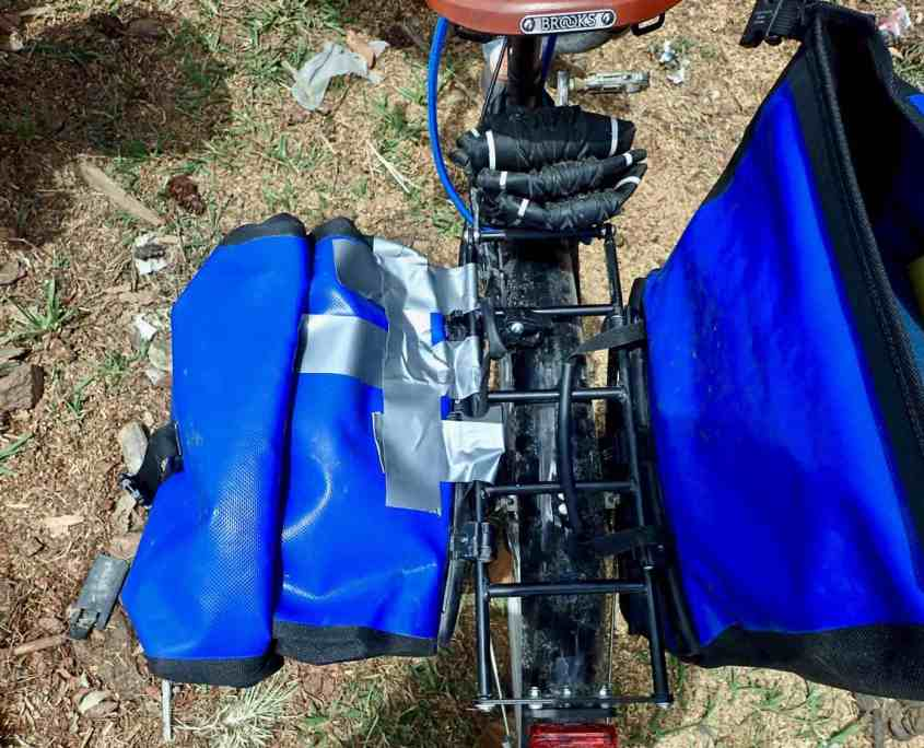 Bicycle Touring Guatemala - Broken Pannier