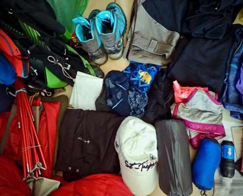 E1 hiking gear list