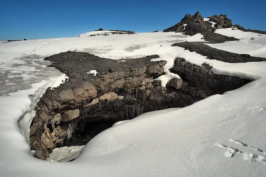 Grotta del Gelo in Etna's National Park in Sicily