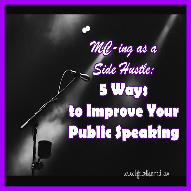 emcee as a side hustle improve public speaking