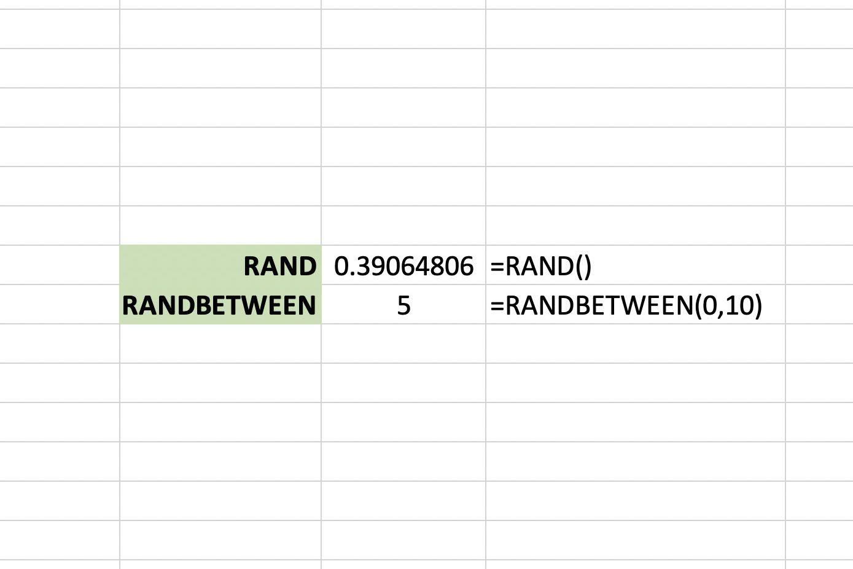 Create Random Number Generator With Randbetween In Excel