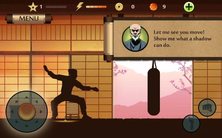 لقطة من اللعب Shadow Fight 2