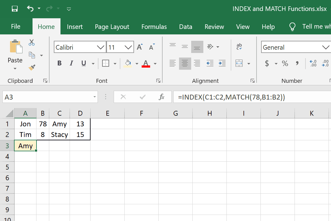 How To Use The Index And Match Function In Excel