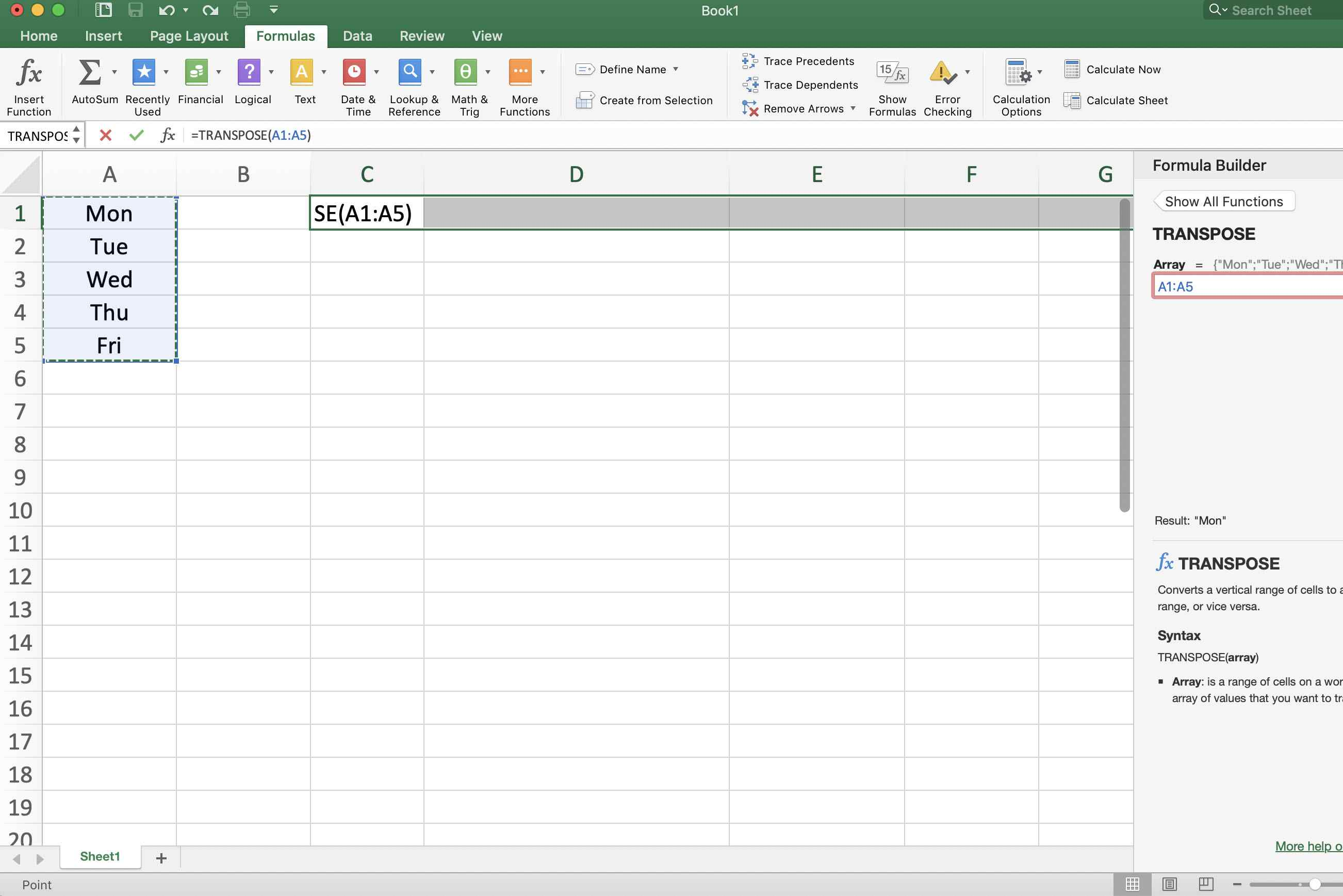 Use Excel S Transpose Function To Flip Rows Or Columns