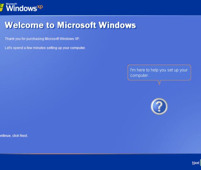 Begin Final Set Up Of Windows Xp