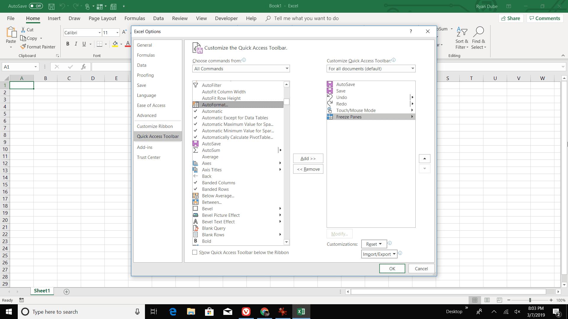 Using Excel S Autoformat Feature