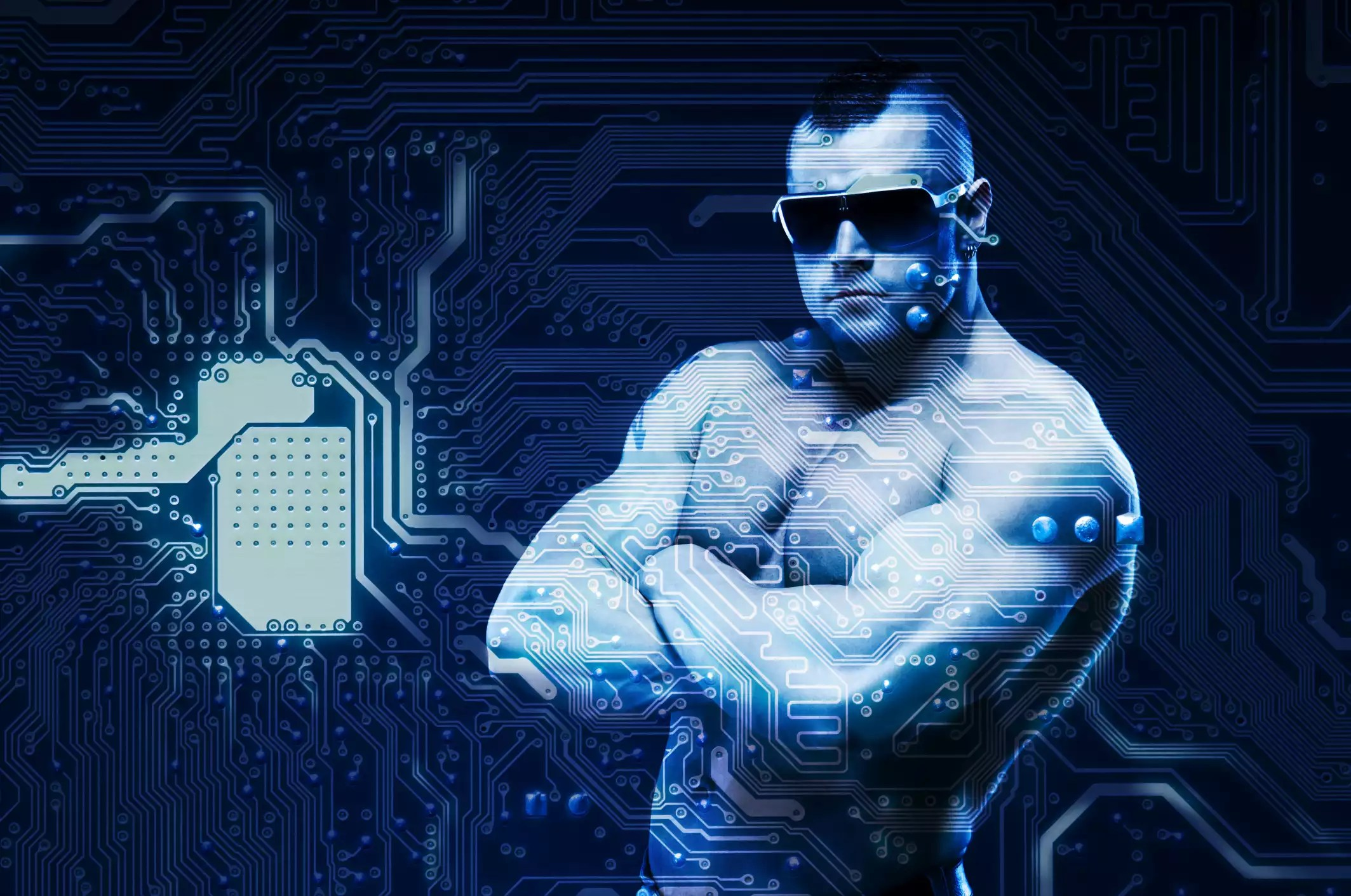 Image of a strong man, indicating strong encryption or passwords - The Internet Tips