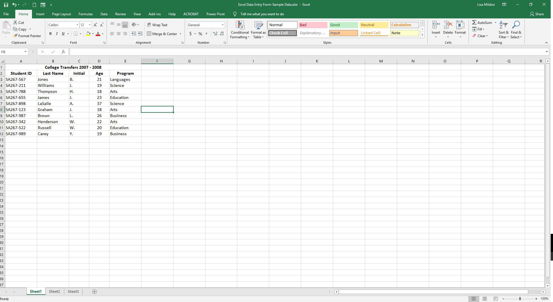 Excel Data Entry Form Tutorial