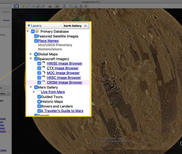 Layers Panel In Lower Left Corner Of Google Earth Pro