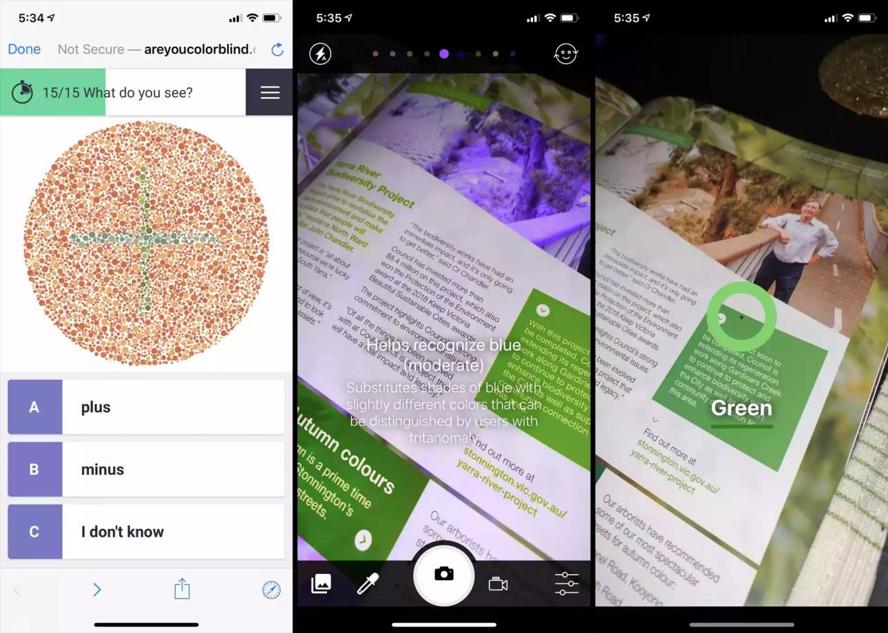 Теперь вы помогаете приложению Color Blind на iOS.
