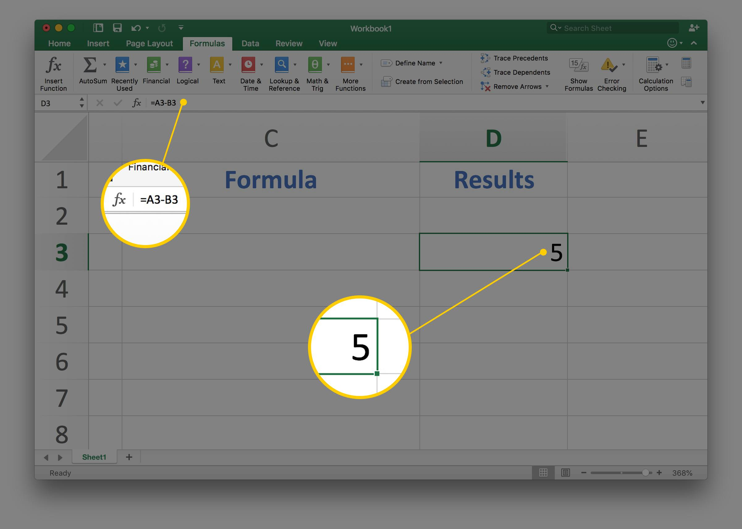 How To Subtract Two Or More Numbers In Excel