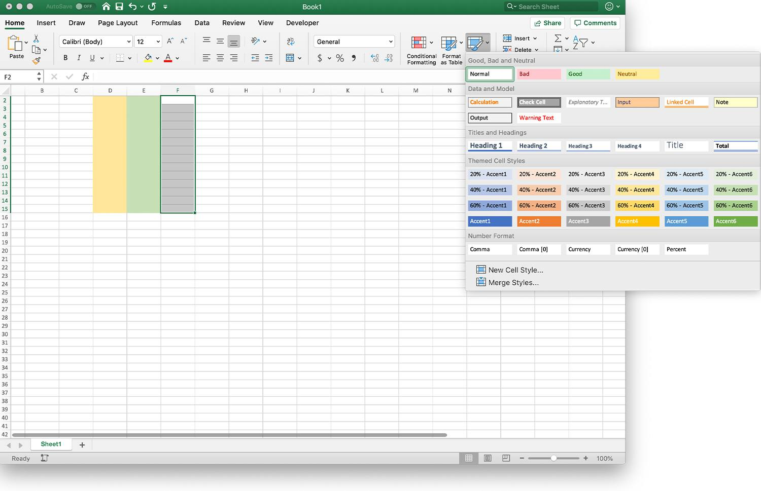 Highlighting Individual Or Multiple Cells In Spreadsheets
