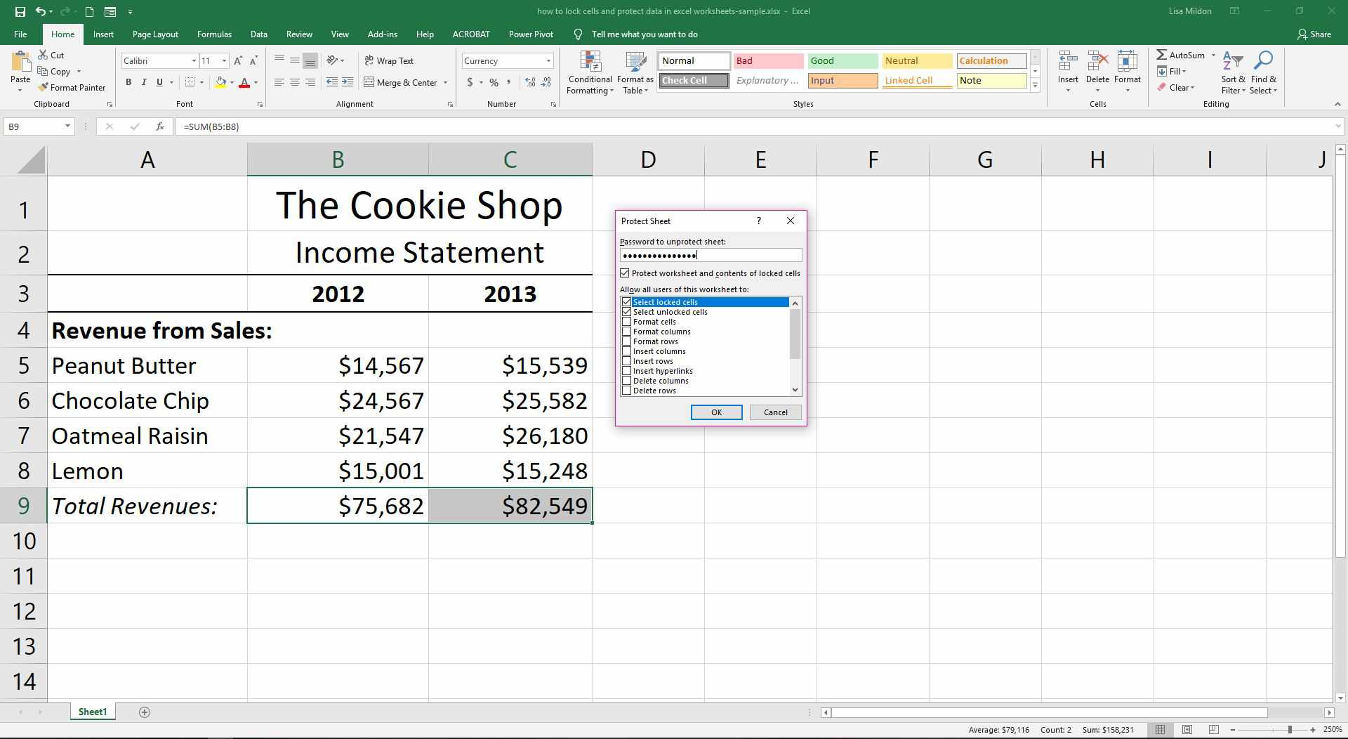 How To Protect Data In Excel Worksheets