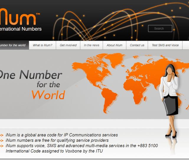 Screenshot Of The Inum Website