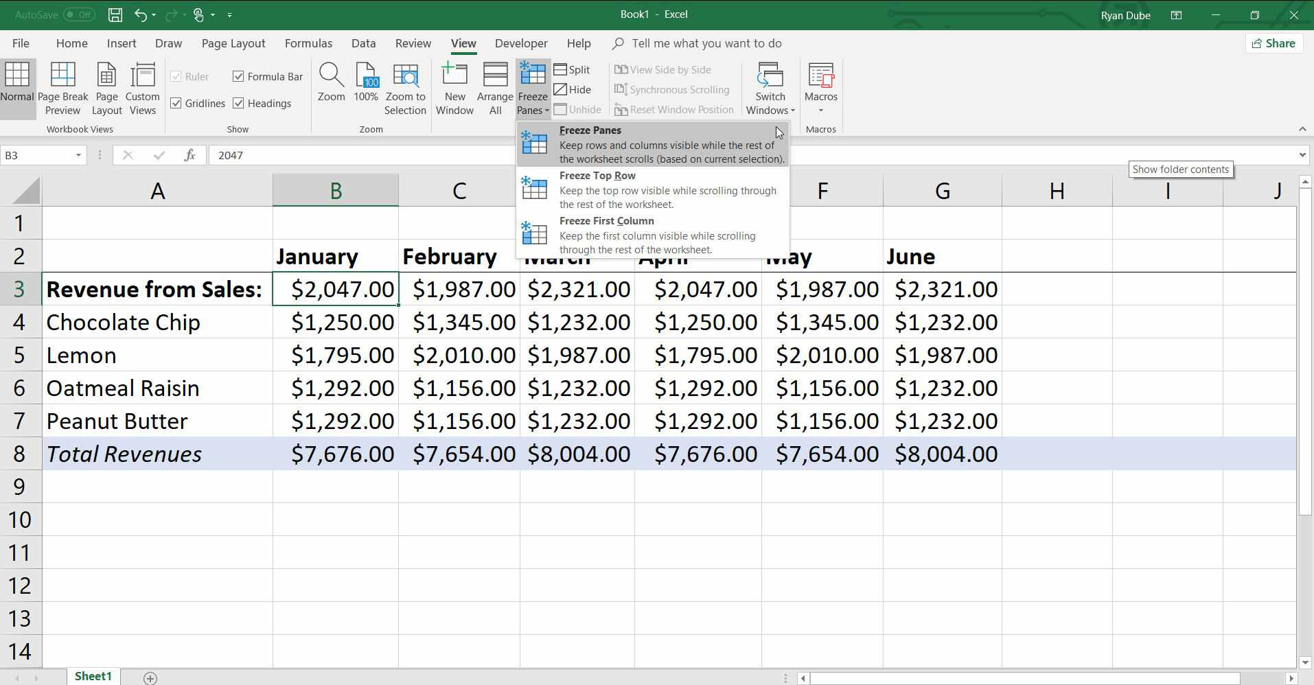 How To Freeze Or Lock Columns And Rows In Excel