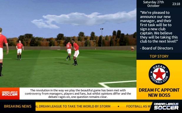 لقطة من لعبة Dream League Soccer