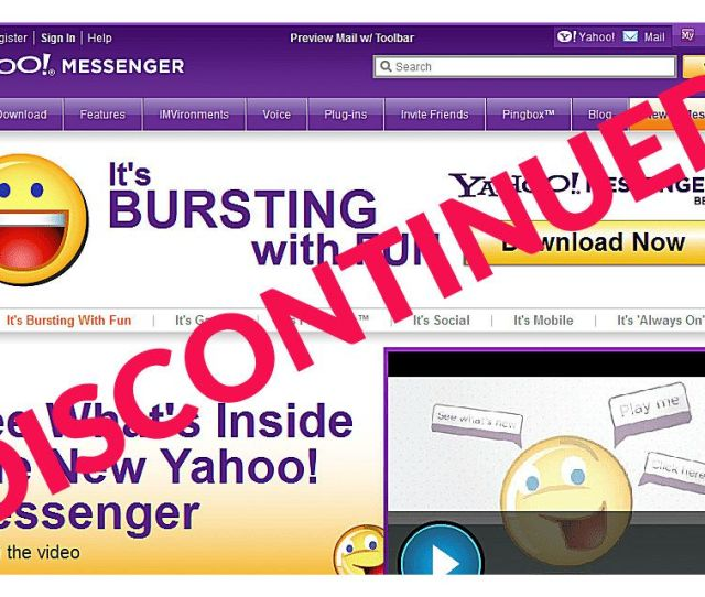 Navigate To The Yahoo Messenger Website