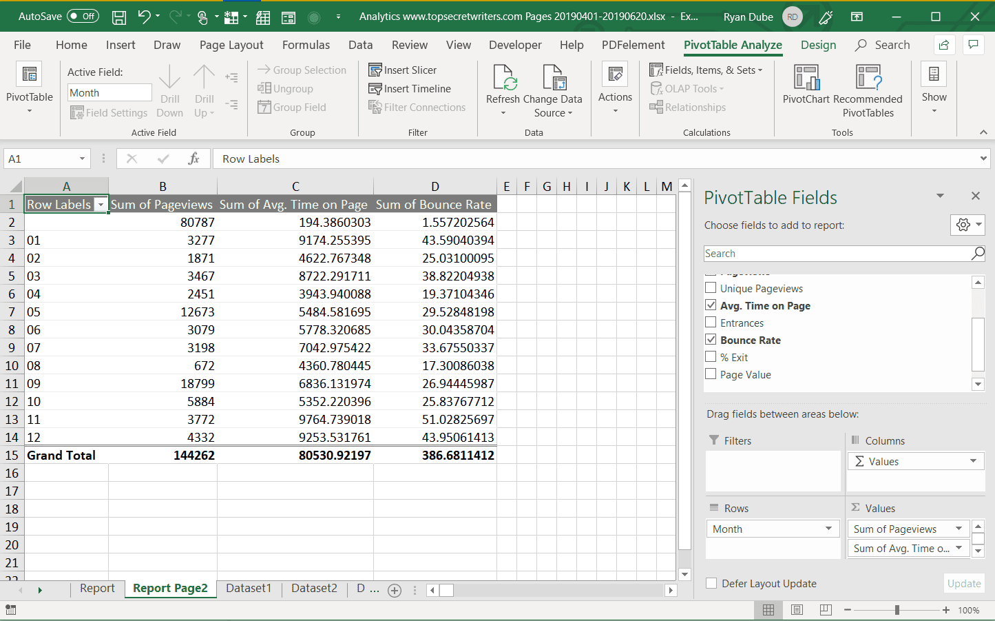 How To Create A Report In Excel