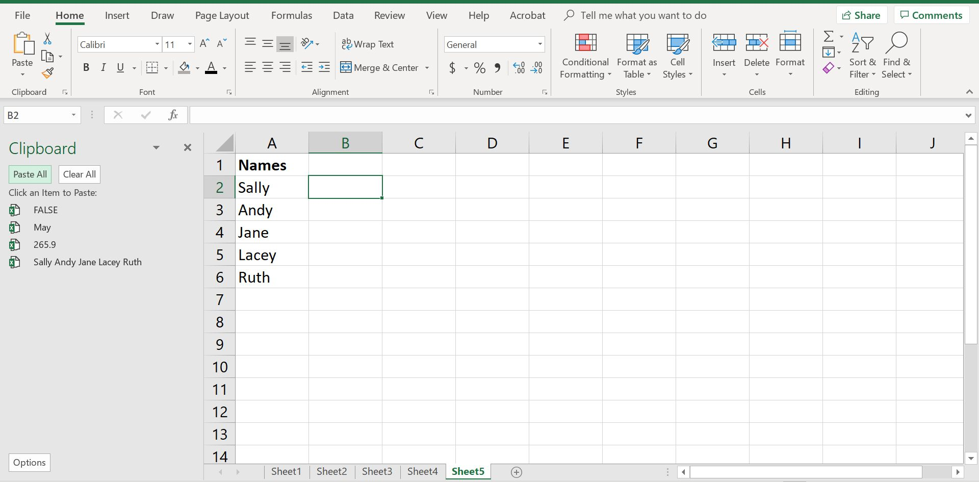 Use Office Clipboard To Copy Multiple Items In Excel