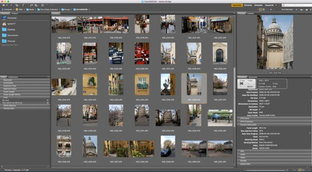 Adobe Bridge screenshot